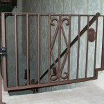 85 custom interior walk gate with handrail
