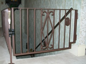 85 custom interior walk gate with handrail