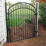 80 Ornamental Iron walk gate with chain link