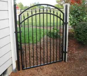 80 Ornamental Iron walk gate with chain link