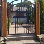 79 Custom ornamental iron walk gate