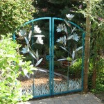 78 Custom ornamental iron walk garden gate