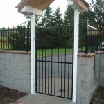 106 design A-1 ornamental iron gate with arbor
