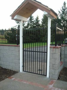 106 design A-1 ornamental iron gate with arbor