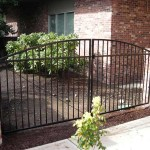 104 design H-1 ornamental iron entry gate