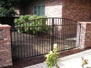 104 design H-1 ornamental iron entry gate