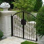 103 Custom ornamental iron walk gate