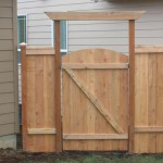 69 Wood privacy cap & trim with walk gate, inside photo