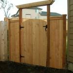 68 Wood privacy cap & trim with walk gate