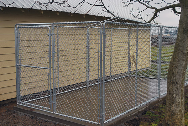66 Chain Link Dog Kennel Without The Cover