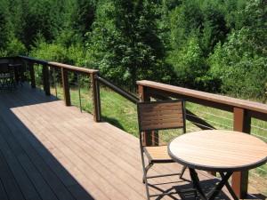 62 Railing cable design with ornamental iron handrail, Salem, Oregon (1418755)