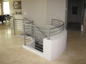 61 Interior ornamental iron railing