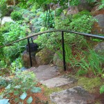 52 Ornamental Iron handrail, garden setting