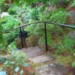 52 Ornamental Iron handrail, garden setting