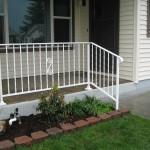 41 White ornamental iron railing, Woodburn, Oregon