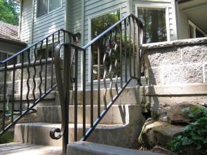 39 Ornamental Iron Handrail, detail Salem, Oregon
