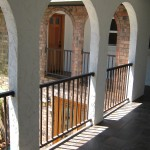 33 Ornamental Iron Raililng between columns, Salem, Oregon