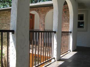 32 Ornamental Iron Railing between columns. Salem, Oregon