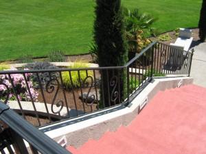 22 Custom Ornamental Iron handrail, Salem, Oregon