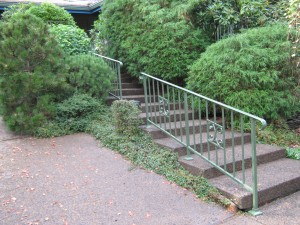 14 Ornamental Iron Handrail - powder coated green