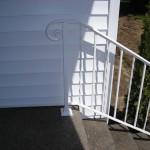 29 Detail, White Ornamental Iron handrail