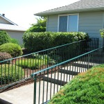 21 Green Powder Coated Ornamental Iron handrail