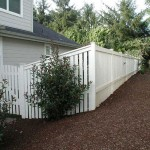 7 Wood Fence, Cap & Trim painted white