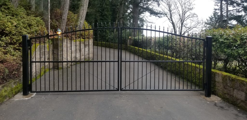 Residential Ornamental Iron Gate Salem Or Outdoor Fence