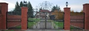 4 Custom Ornamental Iron Gate, Silverton, Oregon