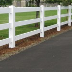 3 Three Rail Vinyl Fence