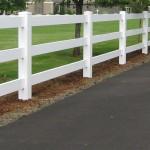 3 Three Rail Vinyl Fence