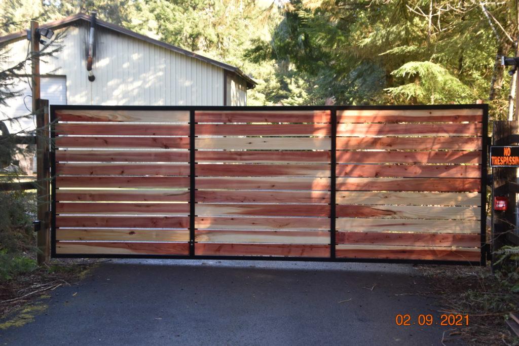Siletz Oregon Gate Outdoor Fence