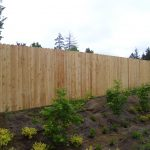 Residential One Side Wood Fence Outdoor Fence
