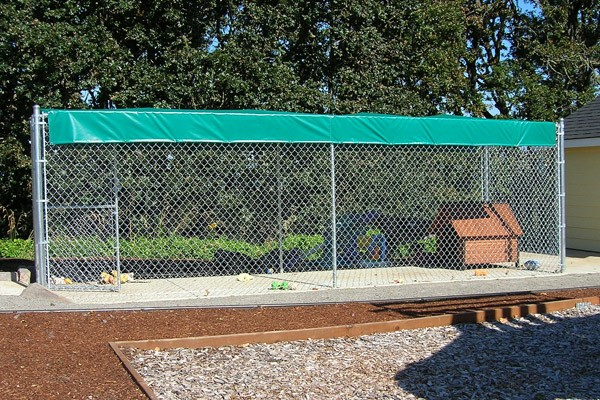 345 Chain Link Dog Kennel With Cover