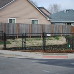 369 black chain link, residential