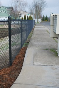 370 black chain link, residential