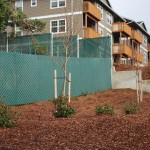 374 pre-slatted chain link fence