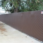 373- pre-slatted chain link-residential