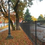 338- Commercial ornamental iron fence- Mission Mill, Salem, Oregon