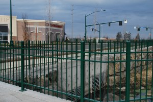 349-ornamental iron fencing-commercial-Keizer Station