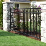362-ornamental iron fence panel, Dallas, Oregon