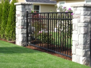 362-ornamental iron fence panel, Dallas, Oregon