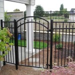 337- ornamental iron fence & gate, Dallas, Oregon