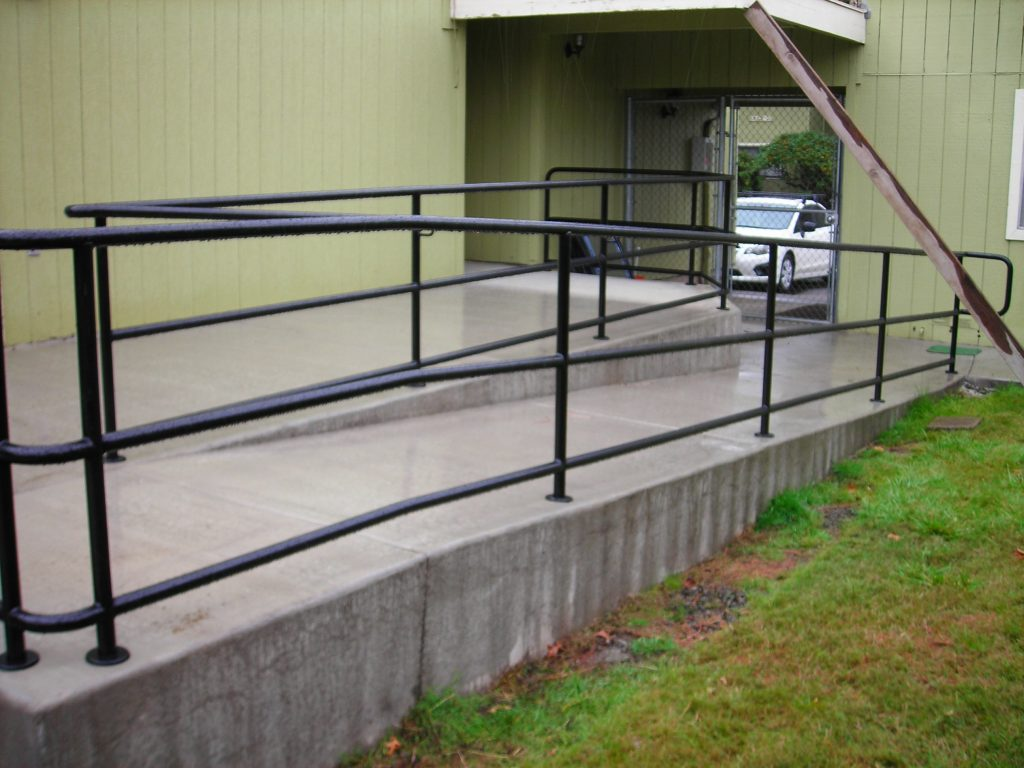 Commercial Ramp Railing Eugene Oregon Outdoor Fence