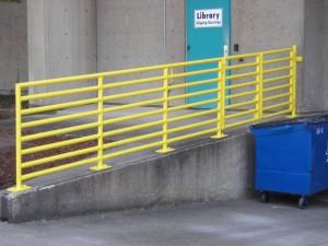 361-iron safety railing, commercial, Salem, Oregon