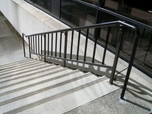 366- stair handrail, ornamental iron, commercial