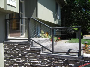 365-ornamental iron cable handrailing residential