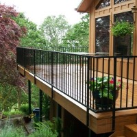 339- Ornamental iron residential deck railing