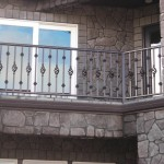 354- Custom, residential ornamental iron railing