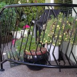 340- Custom ornamental iron handrail